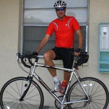 Despite ear related problems, DJ can still ride his bike